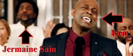 Jermaine Sain of When We Speak on set of Kem's music video.